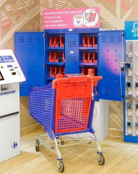 Les premières images du chariot connecté de Carrefour | Mobile & Magasins | Scoop.it