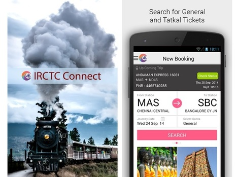 IRCTC Launches Ticketing Android App | Android Application Development | Scoop.it
