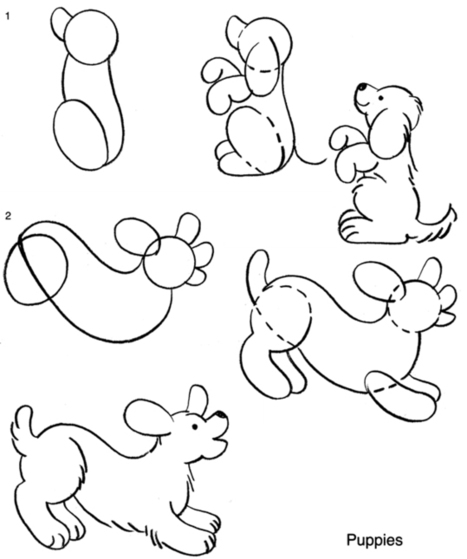 How to draw a puppy.   Artistic Line Designs-all free   Scoop.it