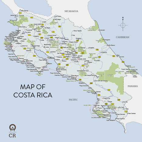 Costa Rica Maps - full country map by Anywhere Costa Rica | Costa Rica - 50 Years and Counting | Scoop.it