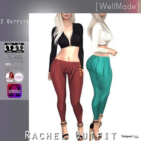 Rachel Outfit Group Gift by [WellMade] | Teleport Hub - Second Life Freebies | Second Life Freebies | Scoop.it