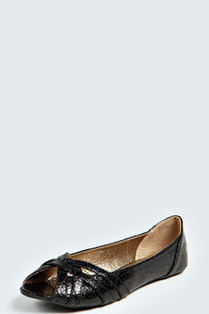 Daisy Metallic Peep Toe Ballets | Fashion lady | Scoop.it