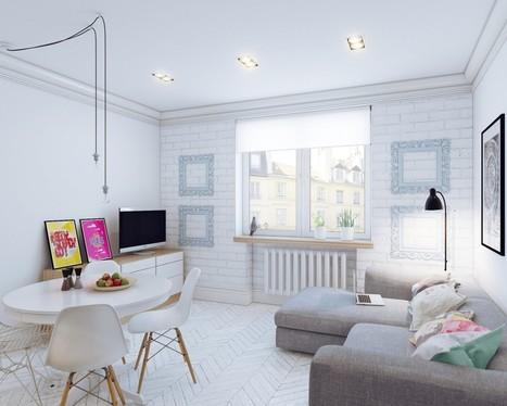 Arredare piccoli spazi giocando con i colori: 25 mq straordinari   Casapuntoit   Scoop.it