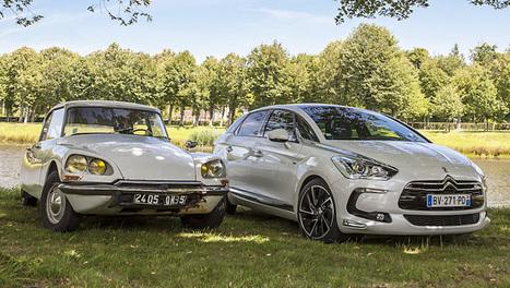 Comparatif Citroën DS (1970) versus  Citroën DS5 (2012) | Citroën DS Historiques | Scoop.it
