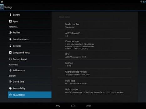 Android 4.2 Jelly Bean llega al Asus Pad Transformer, gracias a XDA-Developers   Saber diario de el mundo   Scoop.it