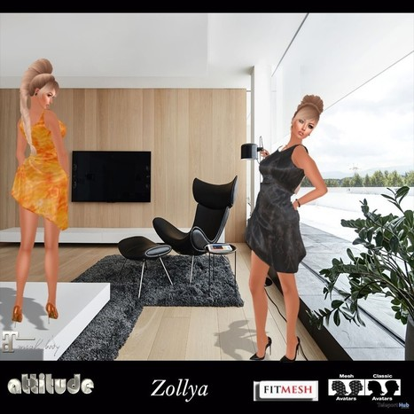 Zollya FitMesh Dress Teleport Hub Group Gift by Attitude Design | Teleport Hub - Second Life Freebies | Second Life Freebies | Scoop.it
