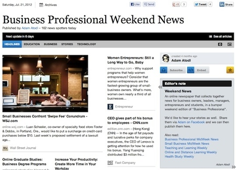 July 21 - Business Professional Weekend News | Business Futures | Scoop.it