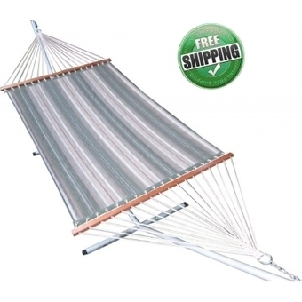 GARDEN STRIPED QUILTED HAMMOCK FURNITURE WITH HAMMOCK STAND | Hammocks in India | Scoop.it