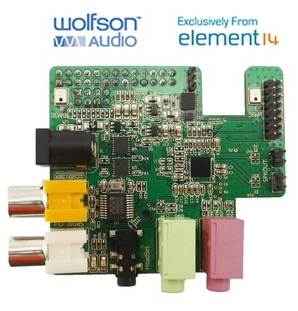 Element14, Wolfson Announce Sound Card for Raspberry Pi | Computer Science in Middle and High Schools | Scoop.it