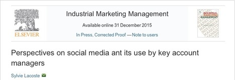 Perspectives on social media ant its use by key account managers   Key account management   Scoop.it