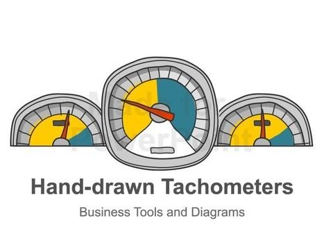 Tachometer Diagram - Hand-drawn PowerPoint Template | Editable & Ready-to-use PPT slides (information, maps, graphs, data) | Scoop.it