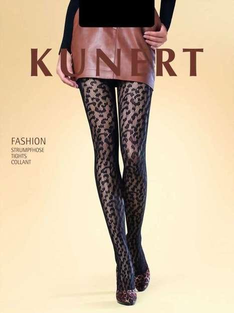 Exclusieve netpantys met luipaard patroon Leo Style van KUNERT zwart, maat 42-44   pantys-boutique.nl   Pantys Kousen   Scoop.it