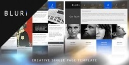 BLURI Single Page Wordpress Theme | Download Free themes Wordpress Joomla | One Pager | Scoop.it