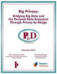 Big Privacy: Bridging Big Data and the Personal Data Ecosystem Through Privacy by Design - Privacy By Design | Digital Footprint | Scoop.it