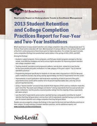 2013 Student Retention and College Completion Practices Report | Noel-Levitz | Alison Pendergast | Scoop.it