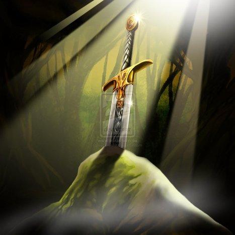 La mítica espada en la roca que Arturo logro sacar y lo proclamó como el rey de ingleterra. | El Rey Arturo | Scoop.it