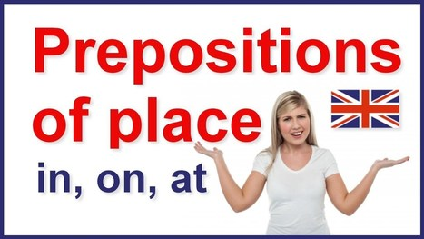 Prepositions of place - in, on, at | English grammar - YouTube | conlangs | Scoop.it