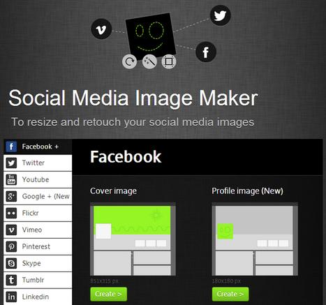 Un sito per creare immagini su misura per tutti i profili social | Social Media Consultant 2012 | Scoop.it