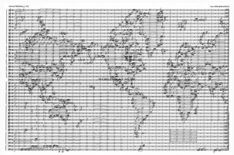 Carte du monde en partition de musique   La boite verte   cartography & mapping   Scoop.it