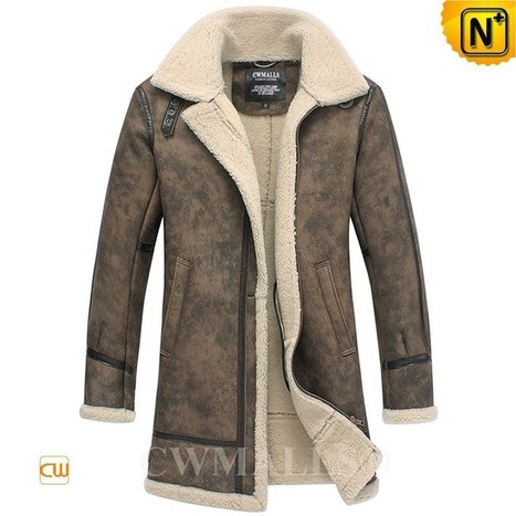 CWMALLS® Printed Sheepskin Trench Coat CW838001 | Leather Trench Coat | Scoop.it