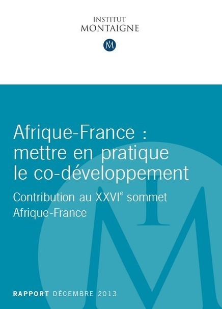 """Review of factors that unlock the Africa France Business potential - A set of proposals by the """"Institut Montaigne"""" (In French only) 