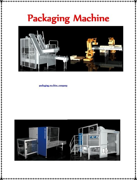 Packaging Machine.docx   Find The Best Packaging Machine Company   Scoop.it