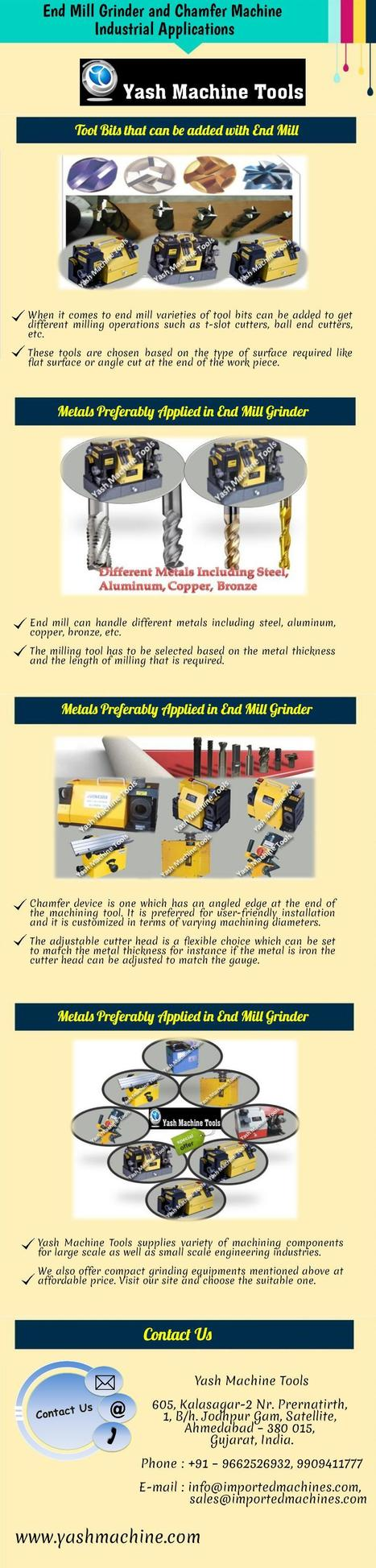 End Mill Grinder and Chamfer Machine - Industrial Applications   Lathe Machines   Scoop.it