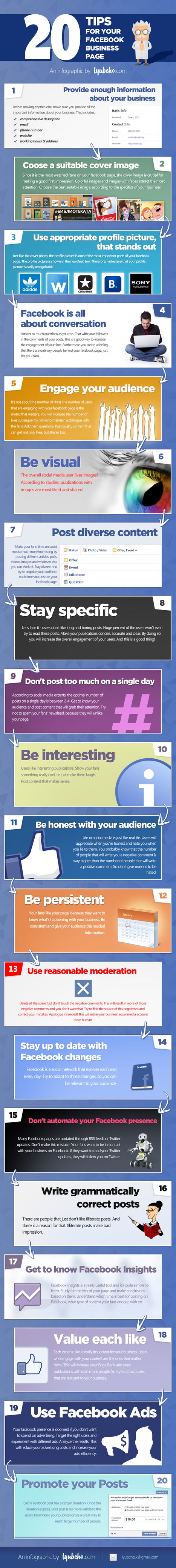 Infographic: 20 Tips for your Facebook Business Page | Social Media and E-Marketing | Scoop.it