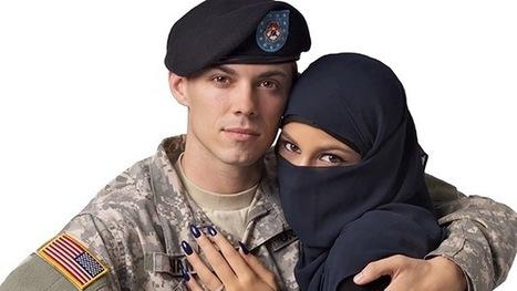 Rechazan una publicidad con un soldado de EE.UU. abrazando a una musulmana con velo | Marbella nota la recuperación económica | Scoop.it
