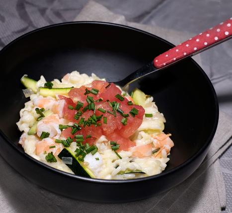 Riz italien au beurre de citron, crevettes, courgettes et tomate crue - Et si c'était bon...   Chef, à table !   Scoop.it