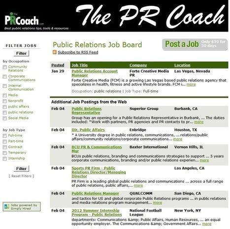 Public Relations Job Board | Public Relations & Social Media Insight | Scoop.it