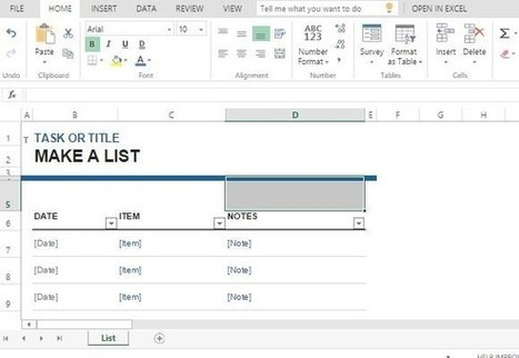 Free Task List Maker Template For Excel | Business and Productivity Tools | Scoop.it