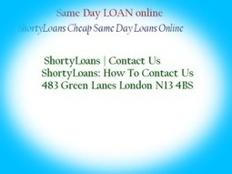 Same Day Loans Get a Loan Sanctioned Within 1 Day | Loan | Scoop.it