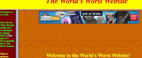 World's Worst Website | Innovations in e-Learning | Scoop.it
