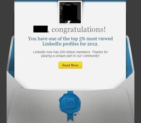 LinkedIn Wins the Twitter Email Trick of the Week | Soshable | Social Media Blog | SeymourResults Social Media | Scoop.it