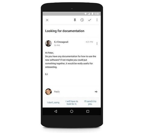 Gmail: bientôt trois propositions de réponses à vos mails | Web Communication | Scoop.it