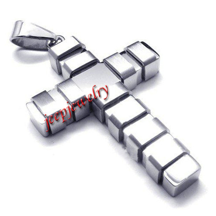 Wholesale Men's silver stainless steel cross pendant necklace - $ 5.32 : Steel Jewelry | How to choose an ideal jewelry for your lover | Scoop.it