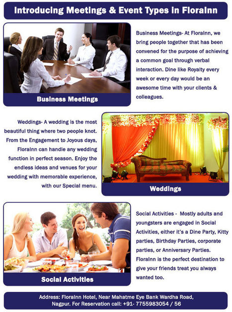 Introducing Meetings & Event Types in FloraInn - Flora Inn | Restaurant in Nagpur | Scoop.it