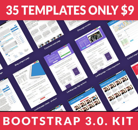 Get 35 Bootstrap 3.0. templates + 2 bonus packs only $9! SAVE $66 NOW! Exclusively on Bootstraptor.com | Bootstraptor FREE KIT update | Scoop.it