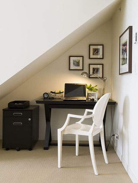 20 Home Office Design Ideas for Small Spaces | Designing Interiors | Scoop.it