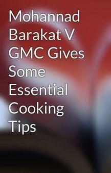 Mohannad Barakat V GMC Gives Some Essential Cooking Tips - Wattpad | Mohannad Barakat GMC | Scoop.it