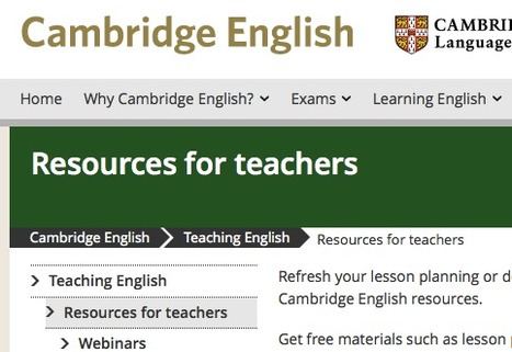 Resources for teachers | Cambridge English | English for International Students | Scoop.it