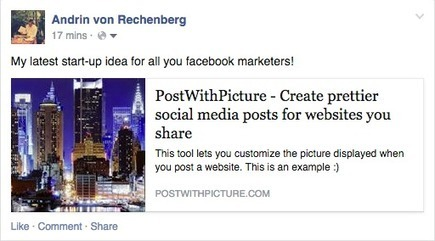 PostWithPicture - Create prettier social media posts | Science, Technology, and Current Futurism | Scoop.it