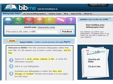 BibMe: Fast & Easy Bibliography Maker - MLA, APA, Chicago, Turabian - Free | Writing On A Budget | Scoop.it