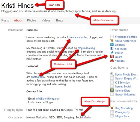 SEO for Google+ Profiles and Pages | SEO and Social Media Marketing | Scoop.it