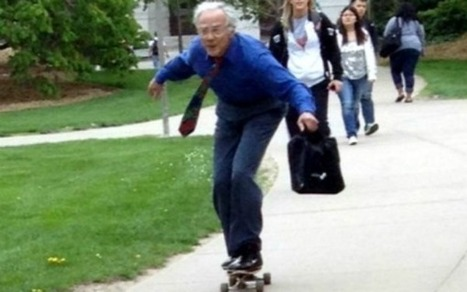 68-Year-Old Skateboarding Professor Becomes Viral Meme [PICS] | Browsing around | Scoop.it