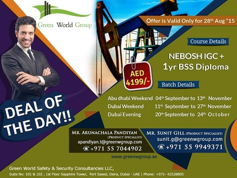 NEBOSH IGC Deal of the Day Offer Dubai & Abu Dhabi | Nebosh courses | Scoop.it