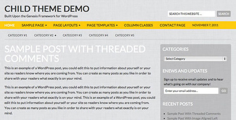 27+ Top Free Genesis Child Themes For Your Wordpress Blog | All Wordpress news | Scoop.it