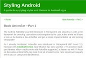 Android UI Patterns: Mark Allison - Basic Action Bar | Android Development for all | Scoop.it