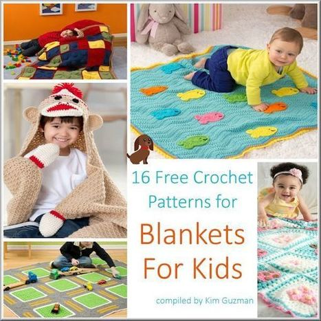 16 Adorable Free Blanket Crochet Patterns for Children | Crochet Street | Crochet, Knit, Patterns, and Fiber | Scoop.it